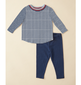 Ella Moss Rainbow Stripe Top Pant Set