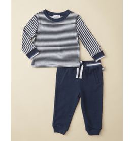 Ella Moss Stripe Top Navy Pant Set