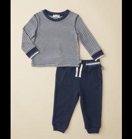 Ella Moss Stripe Top Navy Pant Set