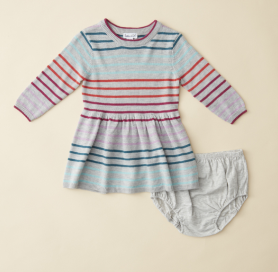 Ella Moss Multi Stripe Sweater Baby Dress