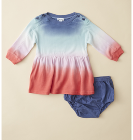 Ella Moss Rainbow Dip Dye Baby Dress
