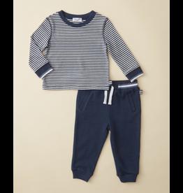Ella Moss Stripe Raglan Baby Top Pant Set