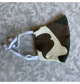 Cookie & The Dude Adjustable Kid Face Mask - Camo