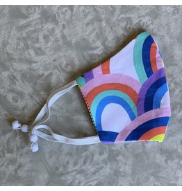 Cookie & The Dude Adjustable Kid Face Mask - Over the Rainbow