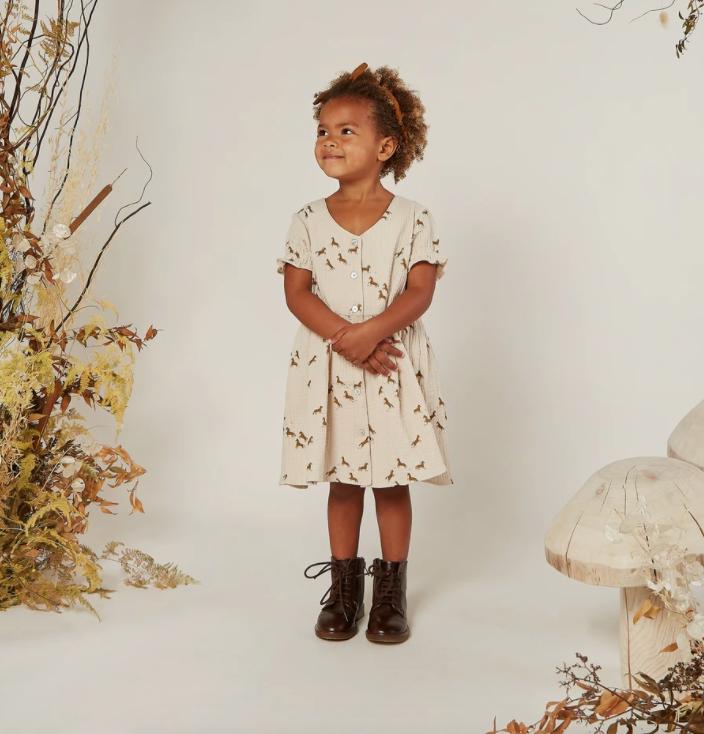 Rylee & Cru Horses Jeanette Baby Dress