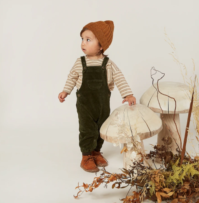 Rylee & Cru Corduroy Overall - Forest