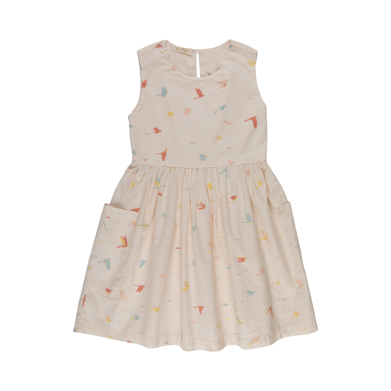 Red Caribou Tropical Bird Pocket Dress