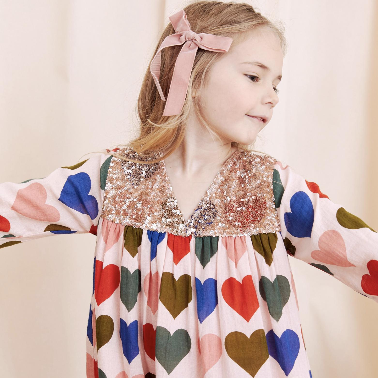 Pink Chicken Courtney Dress - Hearts