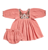 Pink Chicken Arianna Dress Set - Multi Embroidery