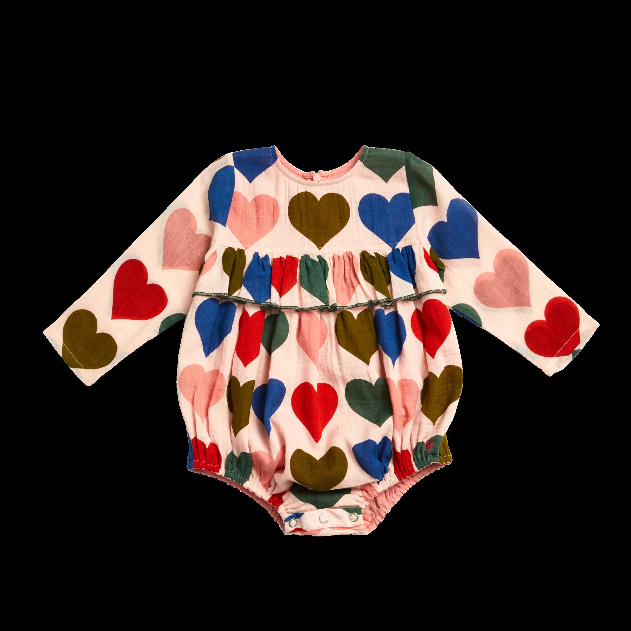 Pink Chicken Frances Bubble - Multi Hearts