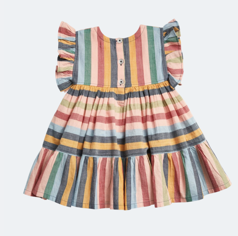 Pink Chicken Kit Dress - Multi Stripe