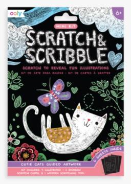 Ooly Mini Scratch & Scribble - Cutie Cats
