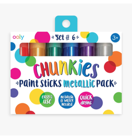 Ooly Chunkies Paint Sticks - Metallic (Set of 6)