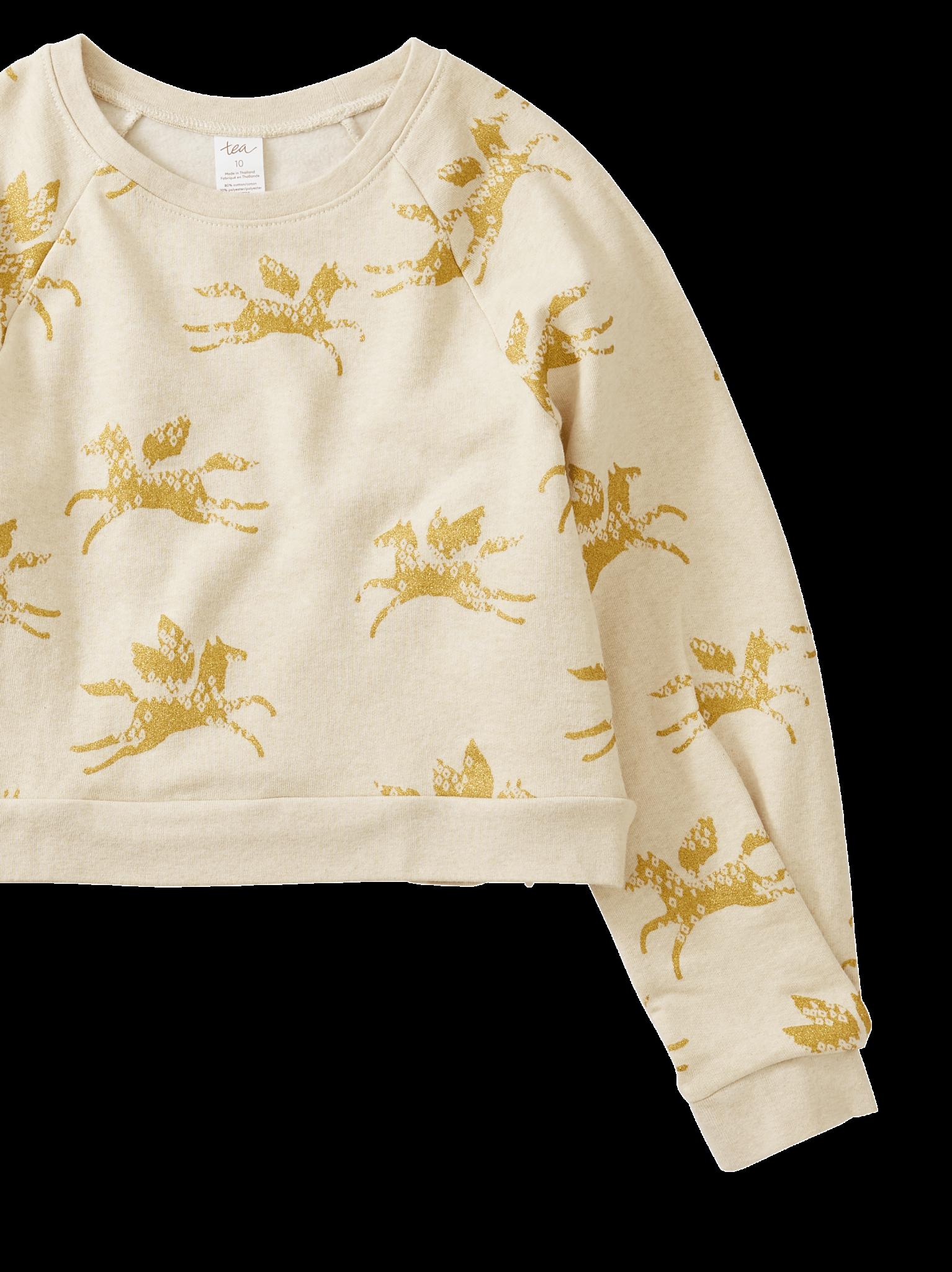 Tea Collection Metallic Wind Horse Sweatshirt