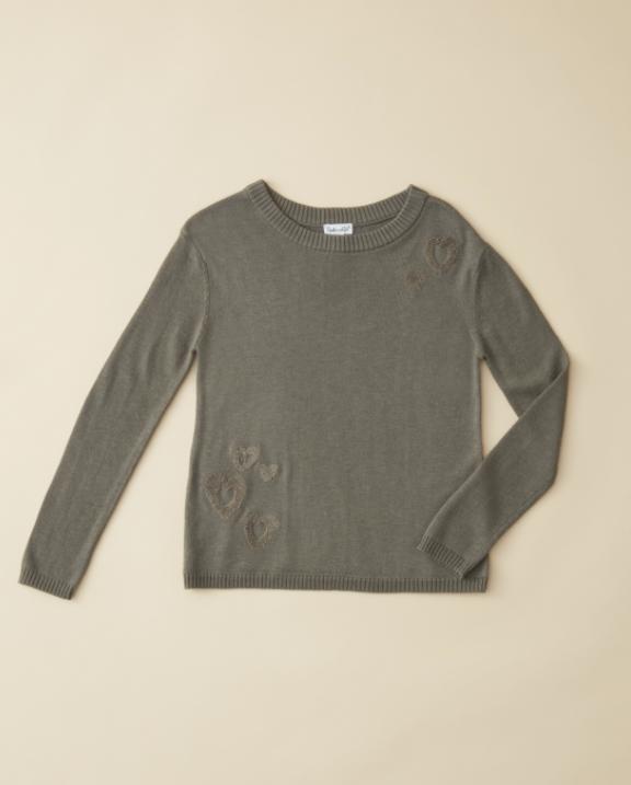 Splendid Heart Sweater - Army Green