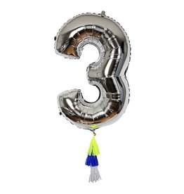 Meri Meri Number Balloon: 3