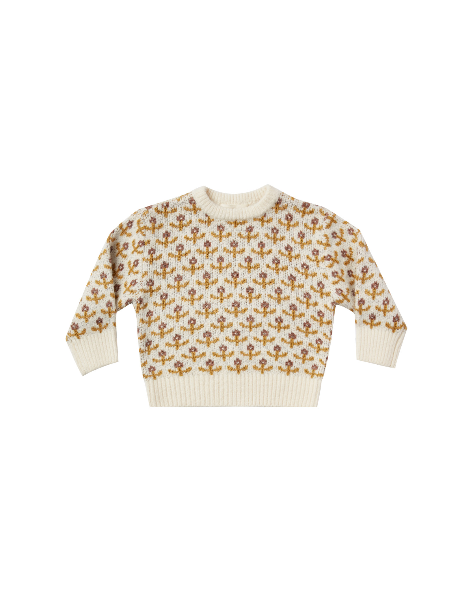 Rylee & Cru Flower Stitch Knit Pullover