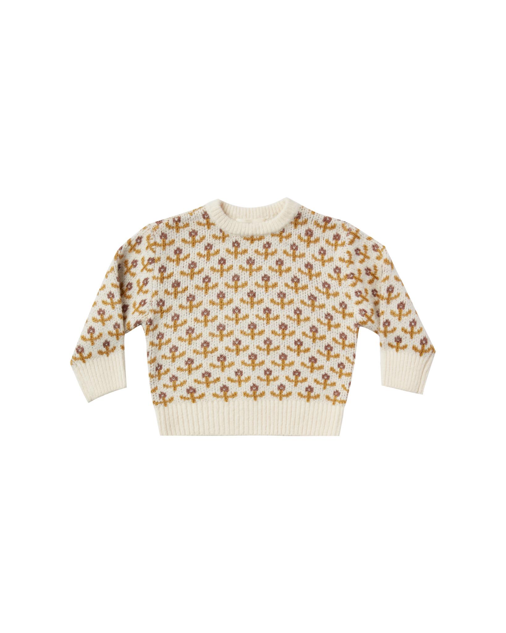 Rylee & Cru Flower Stitch Baby Knit Pullover