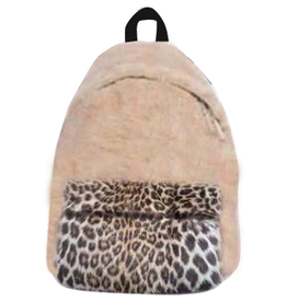 iScream Furry Leopard Backpack