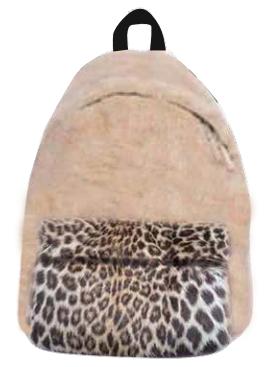 iScream Furry Leopard Backpack