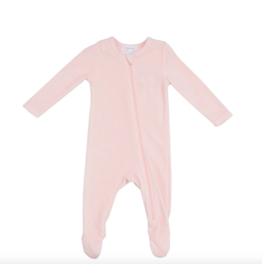 Angel Dear Velour Footie Pink