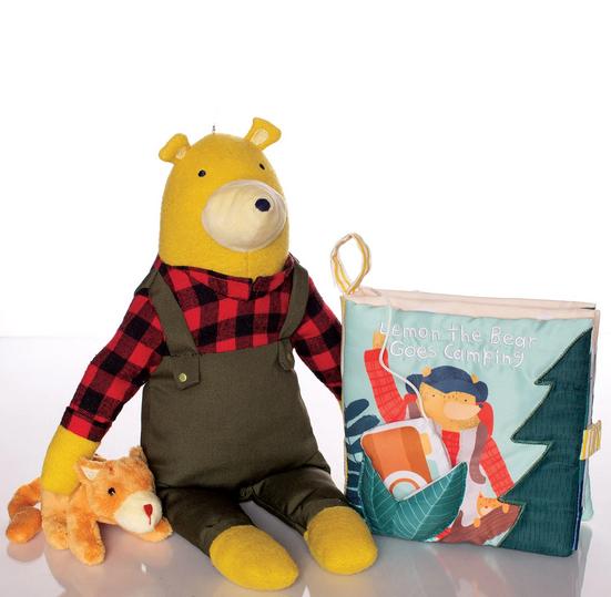 Manhattan Toys Lemon The Bear Goes Camping Soft Book