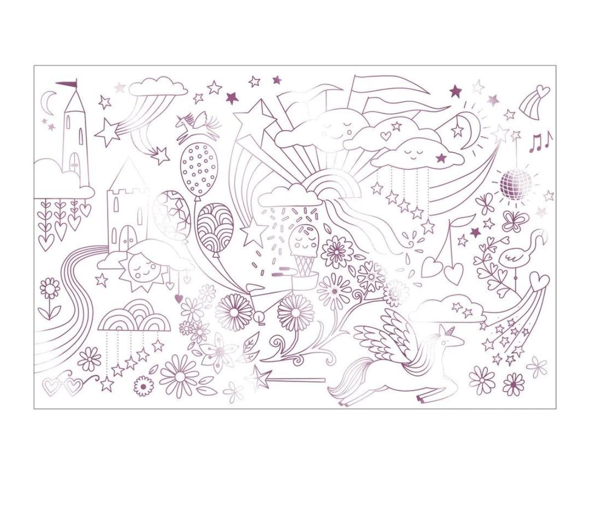 Meri Meri Unicorn Coloring Posters