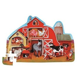 Crocodile Creek Barnyard Shaped Puzzle 30 pc