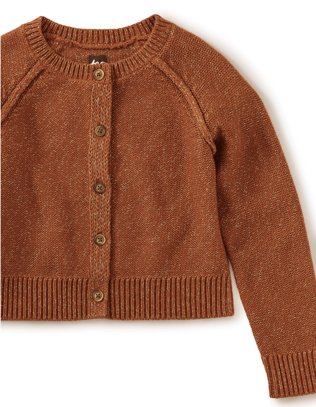 Tea Collection Sparkle Cardigan - Ginger Bread