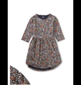 Tea Collection Mountainside Waterflowers Midi Dress