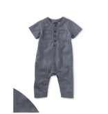 Tea Collection Railroad Stripe Henley Romper