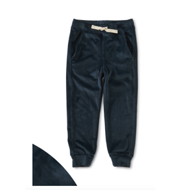 Tea Collection Velour Joggers- Whale Blue