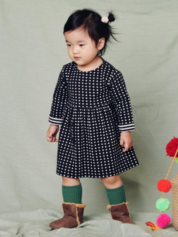 Tea Collection Khumbu Double Knit Baby Dress