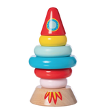 Manhattan Toys Magnetic Wood Stacker Rocket
