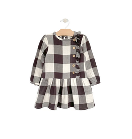 City Mouse Drop Waist Dress - Buffalo Check