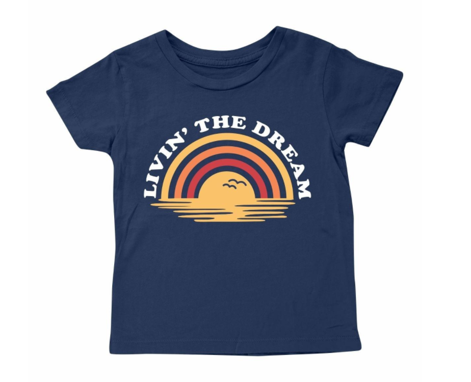 Tiny Whales Livin' The Dream Baby Tee