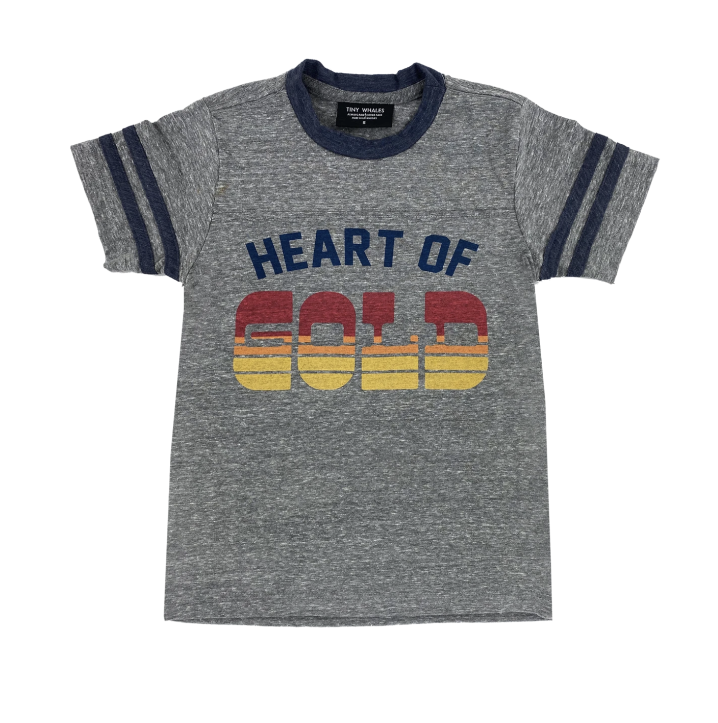 Tiny Whales Heart Of Gold Football Tee