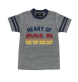 Tiny Whales Heart Of Gold Football Baby Tee