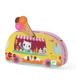 Djeco (Hotaling Imports) Ice Cream Mini Puzzle 16 pc