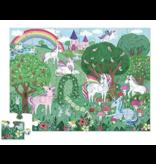 Crocodile Creek Unicorn Garden Floor Puzzle 36 pc