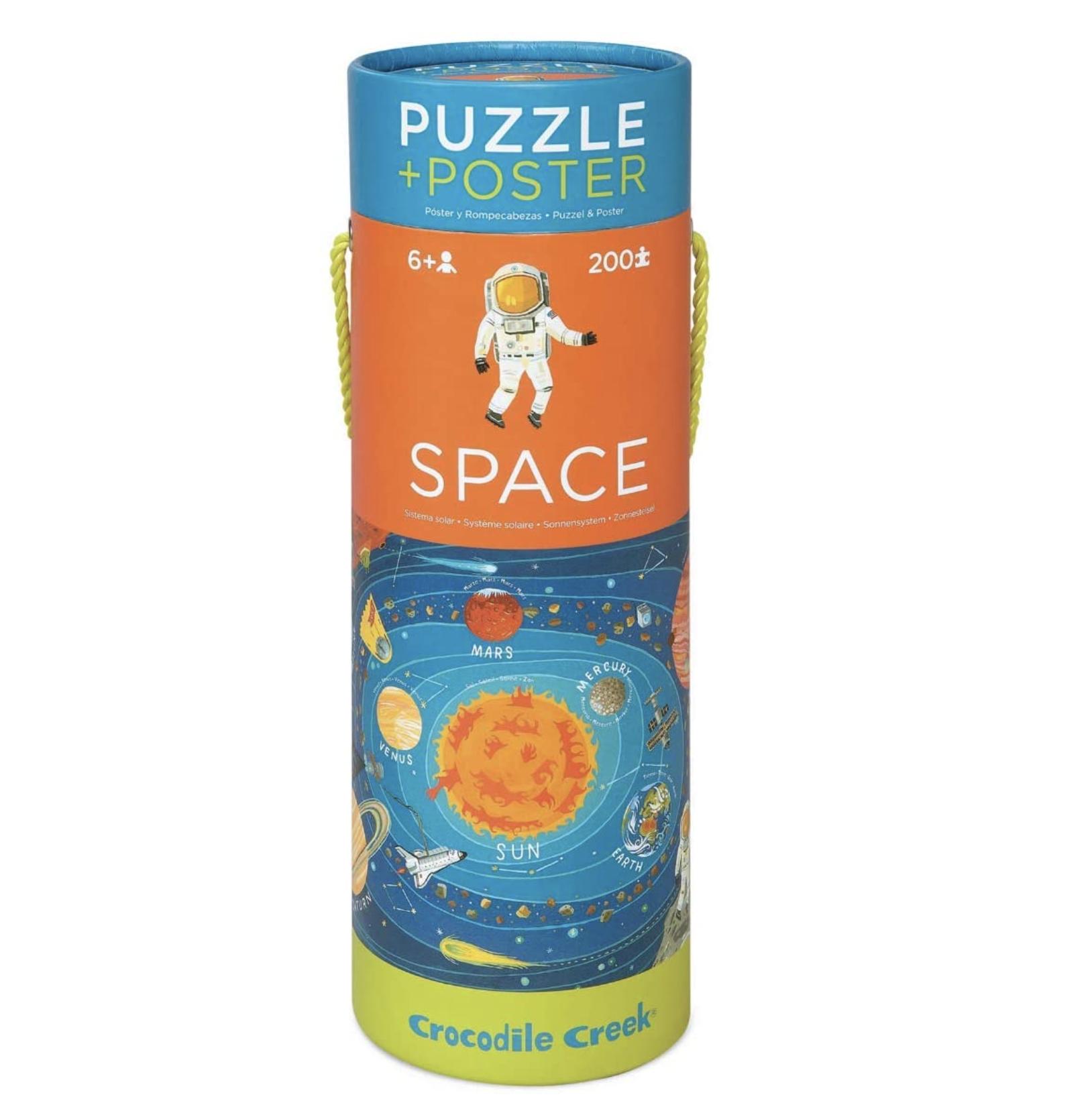 Crocodile Creek Space Puzzle + Poster 200 pc