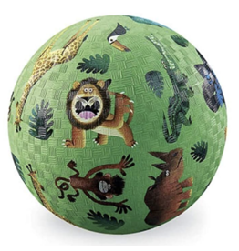 "Crocodile Creek 5"" Playground Ball - Very Wild Animals"