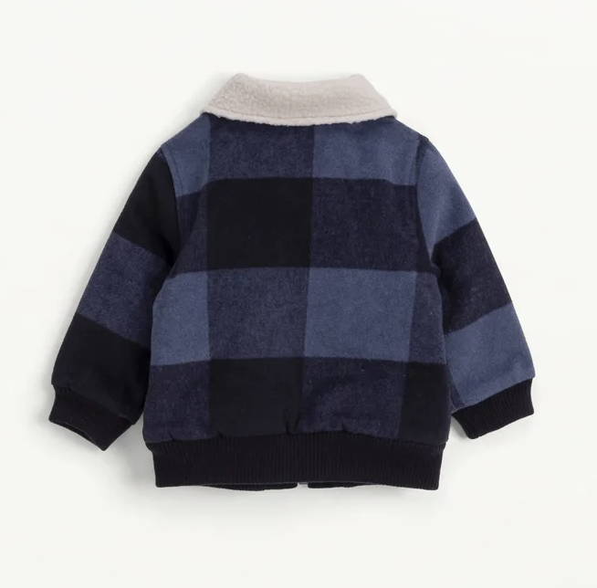 Splendid Slate Check Baby Jacket