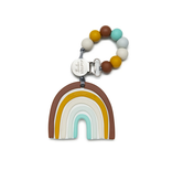 Loulou Lollipop Silicone Teether - Neutral Rainbow