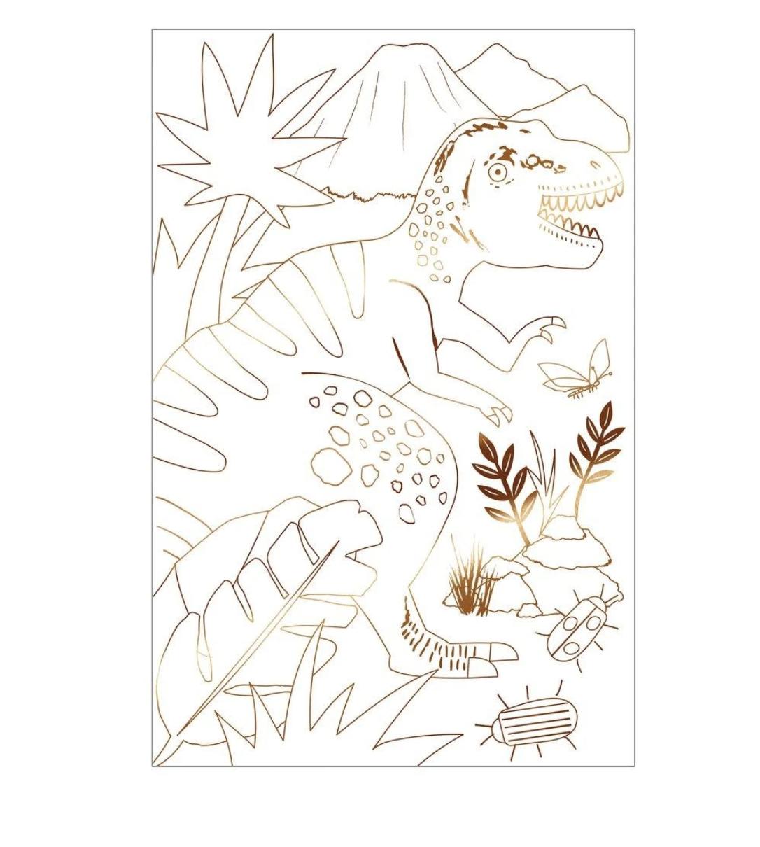 Meri Meri Dinosaur Kingdom Coloring Poster