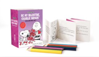 Hachette Peanuts: Be My Valentine, Charlie Brown Coloring Kit