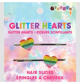 iScream Glitter Hearts - Hair Slides