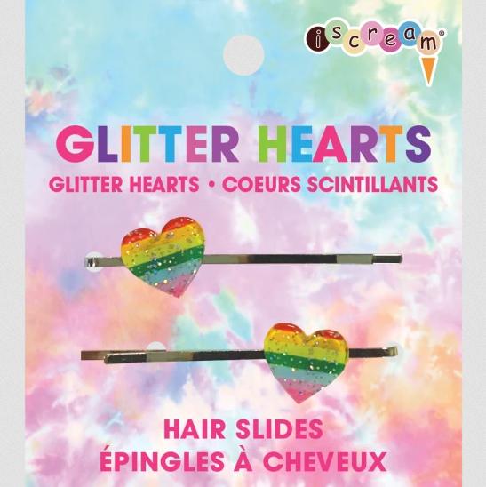 iScream Glitter Hearts - Hair Slides