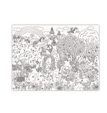 Crocodile Creek Unicorn Garden Giant Coloring Poster