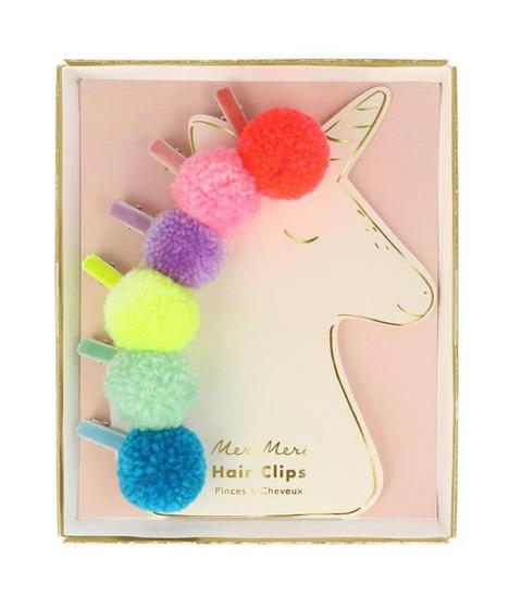 Meri Meri PomPom Unicorn Hair Clips